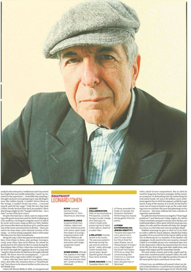 Leonard Cohen Interview